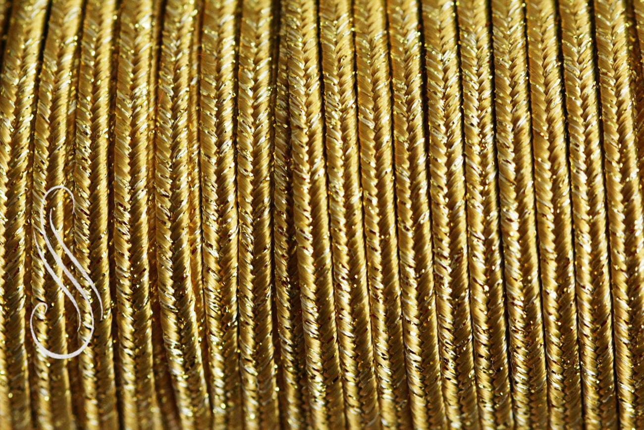sutaška METALIC OLD GOLD 3 mm/1m