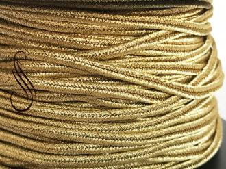 sutaška ITALIAN LUXURY SOUTACHE POLISHED BRASS METALLIC/ST3107/ 2,5mm/ 1m