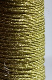 sutaška METALIC OLIVA/GOLD 3mm/ 1m